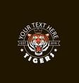 tiger head emblem vector image vector image