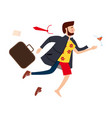 transition to vacation businessman in business vector image vector image
