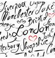 travel england destination seamless pattern vector image