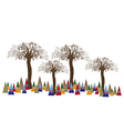 Tree forest art concept vector image vector image