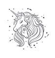 unicorn family love magic dream 4 vector image vector image