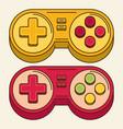 vintage game joystick gamepad icon vector image vector image