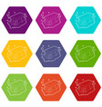 wet cleaning icons set 9 vector image vector image