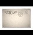 Xmas retro postcard vector image