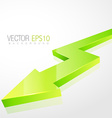 3d green arrow in isolated background vector image