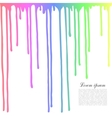 Colored drops on a white background Dripping vector image
