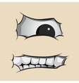 Angry fat face vector image