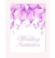 Invitation with Watercolor flower petals vector image