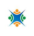 teamwork people education logo vector image