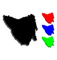 3d map of tasmania vector image vector image
