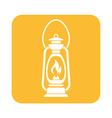 Antique Old Kerosene Lamp icon vector image