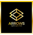 arrow rhomb line logo infinity cube royal luxury vector image vector image