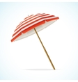 Beach Umbrella Red and White vector image