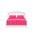 bed icon in flat design cartoon vector image
