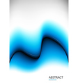 blue background with waves vector image vector image