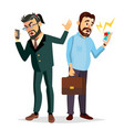 boss shouting on phone screaming problem vector image