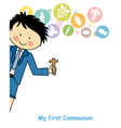 Boy first Communion vector image vector image