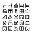 Buildings and Furniture Icons 11 vector image vector image