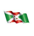 burundi flag on a white vector image