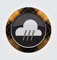 button orange black tartan - rain rainy icon vector image