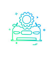 car repairing setting gear icon design vector image