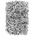 cartoon cute doodles africa vector image vector image