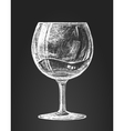 Chalk drawing of a wineglass vector image vector image