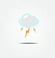 Cloud and lightning icon vector image vector image