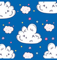 clouds smiling background vector image