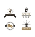 Coffee shop sign cafe symbol badge vector image vector image