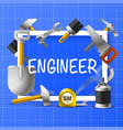 collage of an engineer in a frame vector image vector image