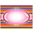 Colorful stripes background with sign vector image vector image