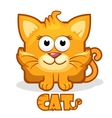 cute cartoon square cat vector image vector image