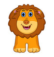 cute lion cartoon isolated on white background vector image vector image