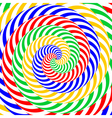 Design colorful whirlpool circular background vector image vector image