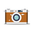 detailed old vintage camera isolated over blue vector image vector image