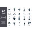education icons set collection includes simple vector image vector image