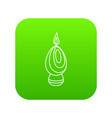 egg candle icon green vector image vector image
