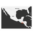 el salvador orange marked in political map of vector image vector image