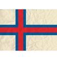Faroe Islands paper flag vector image vector image