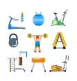 Fitness gym club icons vector image vector image