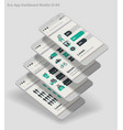 flat design admin dashboard eco new energy vector image vector image