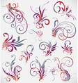 floral elements design collection vector image vector image