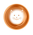 foam cat muzzle drawing or picture coffee vector image