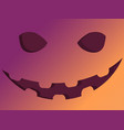 halloween scary face with gradient jack o lantern vector image vector image