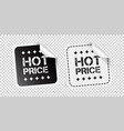 hot price sticker black and white vector image vector image