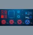 hud ui gui futuristic user interface screen vector image vector image