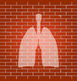 human anatomy lungs sign whitish icon on vector image vector image