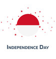 independence day of monaco patriotic banner vector image