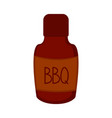 isolated bbq bottle icon vector image